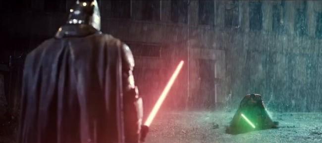 Batman V Superman mezclada con Star Wars