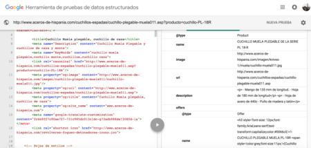 Datos Estructurados Aceros De Hispania