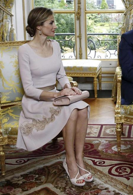 La reina Letizia en Francia