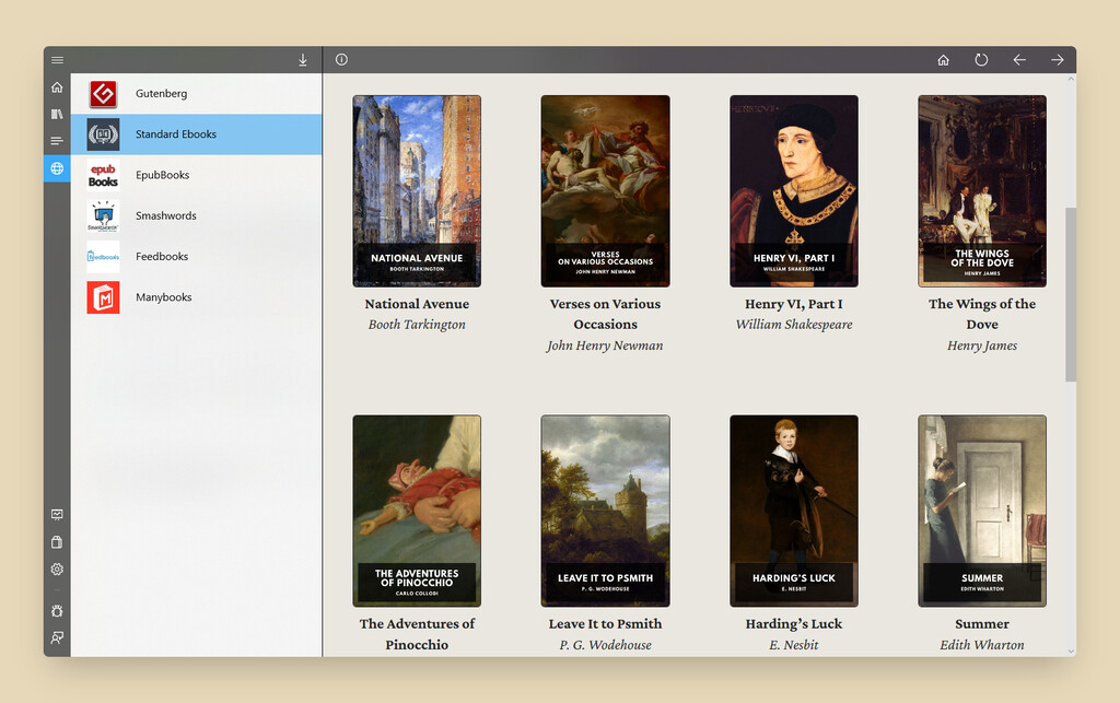 Aquile Reader es un genial lector de ebooks para Windows 10 que nos permite descargar miles de libros gratis desde la web