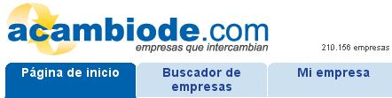 acambiode.com, trueque entre empresas