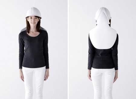 Silla y casco especial para terremotos, el dos en uno más seguro