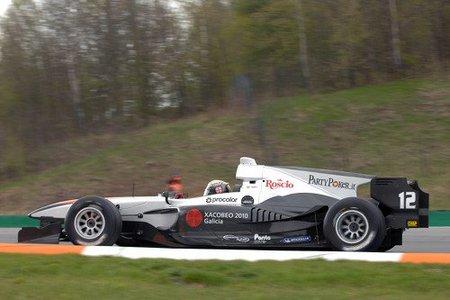 Celso Miguez durante los entrenamientos de la AutoGP en Brno