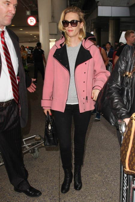 January Jones Chaqueta Rosa