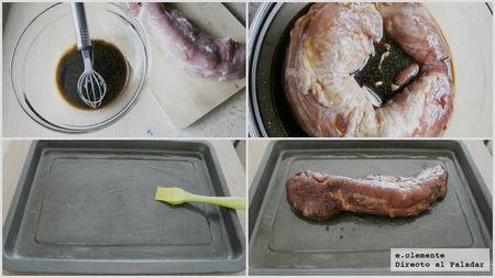 Solomillo de cerdo laqueado a las cinco especias