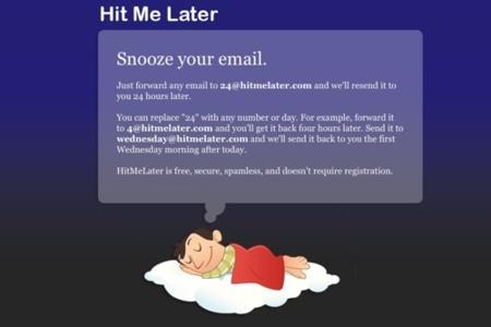 Hit Me Later, reenviándonos mensajes de correo electrónico horas más tarde