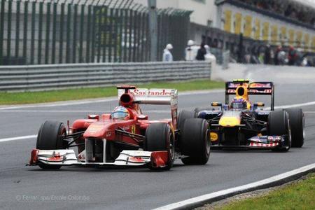 Fernando Alonso en el Gp de Hungría de F1 de 2011