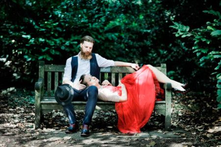 London Elopement Red Wedding Dress 29 640x426