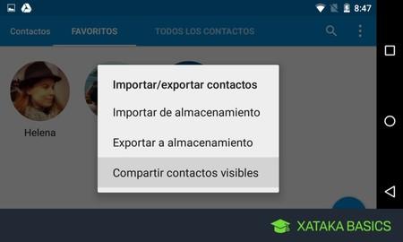 Cómo hacer una copia de seguridad de tus contactos en Android