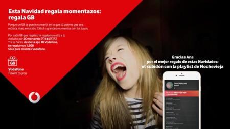 Vodafone te permitirá regalar gigas en navidad: hasta 2.5 GB por 2 euros