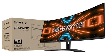 Gigabyte estrena monitor gaming: el G34WQC llega con unas imponentes 34 pulgadas, resolución 1440p y 144 Hz