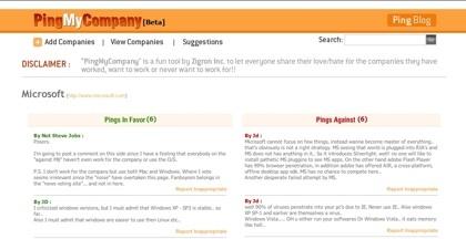 PingMyCompany, opina sobre las compañías que desees