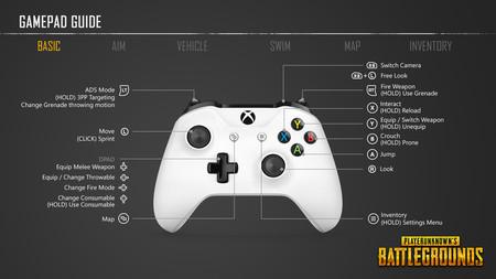Pubg Guia De Controles En Xbox One