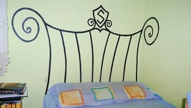 Hazlo tú mismo: pinta el cabecero de tu cama en la pared