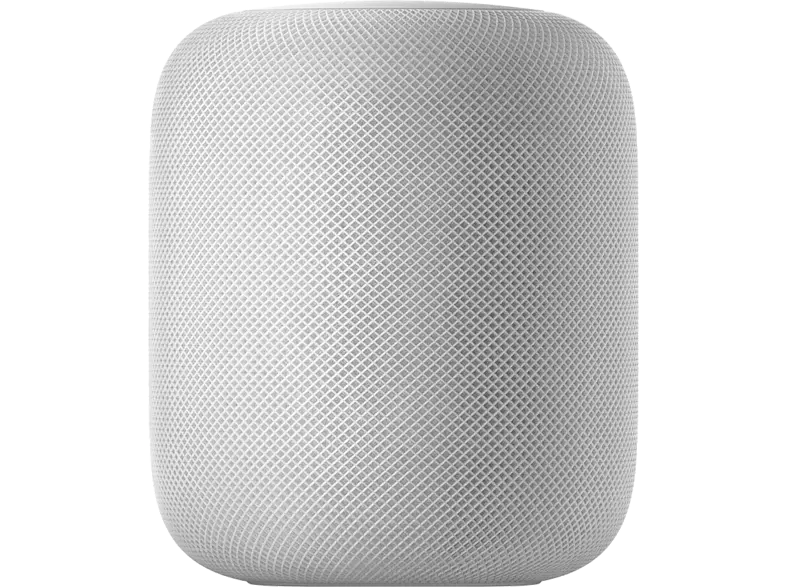 Altavoz inteligente - Apple HomePod, Chip A8, Siri, Altavoz 360º, Bluetooth, Wi-Fi, Blanco, domótica