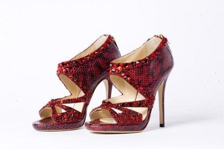 La colección 2009 de zapatos Ruby Slippers de Dorothy del Mago de Oz