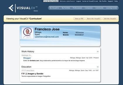 VisualCV, creando nuestro curriculum para su acceso a través de Internet