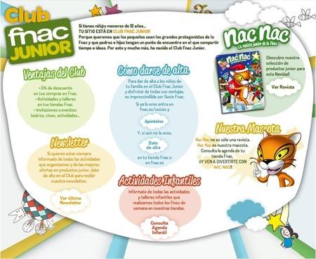 Fnac y el club Fnac Junior para niños de hasta 12 años