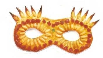 Máscaras de carnaval para disfrutar y comer