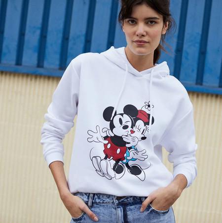 Kiabi Sudadera Disney Con Capucha Minnie Y Mickey Blanco Mujer Book Pvp 15eur