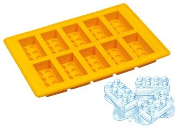 Cubitos de hielo con forma de ladrillos de Lego