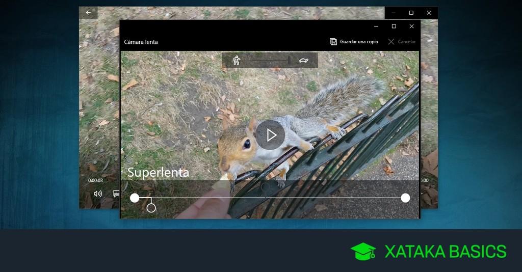 Cómo convertir un vídeo a cámara lenta con Windows 10 sin instalar aplicaciones