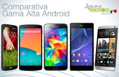 Galaxy S5 y Xperia Z2 comparados con la actual gama alta de Android