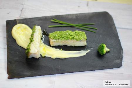 Lomo de bacalao con costra de brócoli