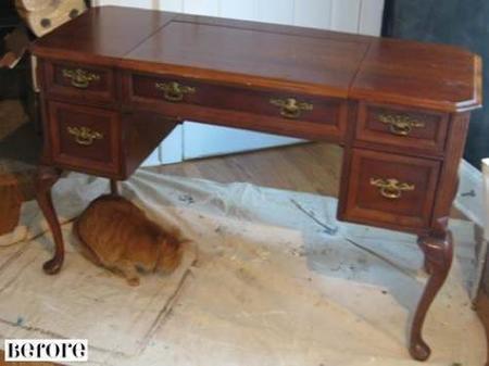 Restaurar muebles de madera en blanco