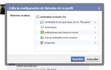 """Facebook permite de nuevo eliminar la """"actividad reciente"""" de nuestro muro"""