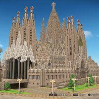 Mientras en Barcelona siguen terminando la Sagrada Familia, un jugador ha construido la obra de Gaudí en Dragon Quest Builders 2