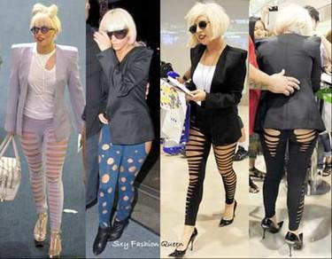 Lady Gaga por fin crea una tendencia: leggins rasgados