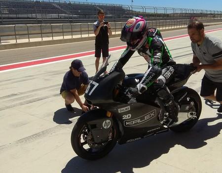 Jesko Raffin Triumph Kalex Test Motorland 2018