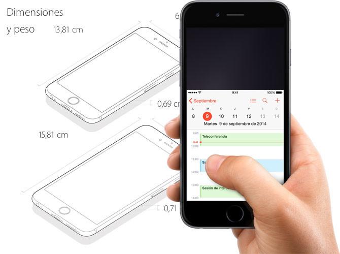 Utilizando el iPhone 6 y iPhone 6 Plus con una mano: las 4,7 y 5,5 pulgadas de Apple