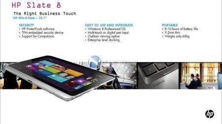 HP Slate 8, la tablet de HP con Windows 8