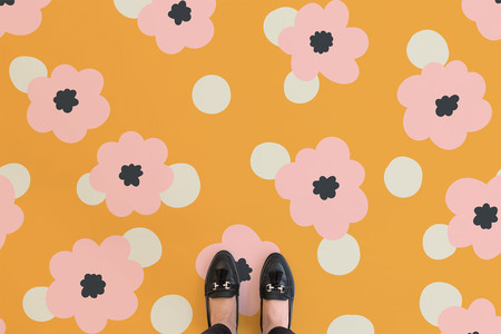 90s Floral Yellow Shoes Landscape Web