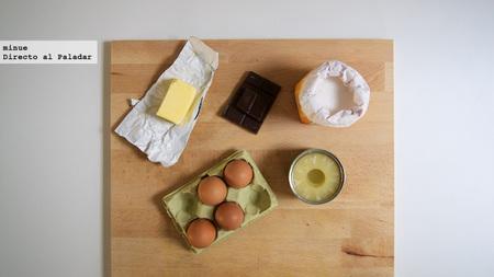 Tarta de chocolate y piña - ingredientes