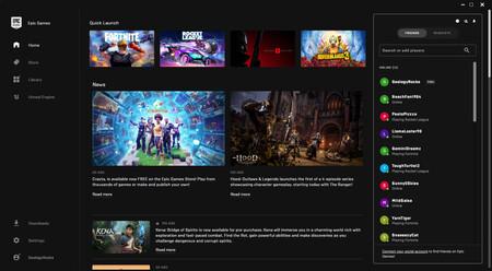 La Epic Games Store se prepara para sus nuevas funciones sociales, como la creación de grupos y tarjetas de jugador