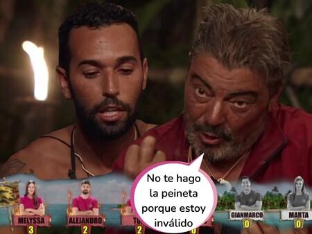 """El chantaje emocional de Antonio Canales a Omar Sánchez (El Negro) en 'Supervivientes 2021': """"Has nominado a un inválido"""""""