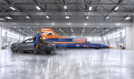 Andy Green Bloodhound SSC Jaguar F-Type