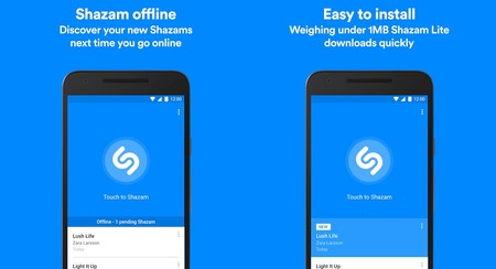 Shazam Lite se suma a las aplicaciones ligeras, ocupa menos de un mega