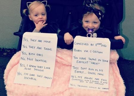Una madre de gemelas crea una desternillante lista de respuestas para las preguntas que recibe a diario