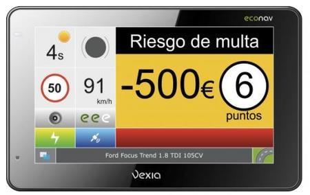 Vexia desarrolla un navegador que te indica la sanción y los puntos en tiempo real