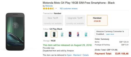 Moto G4 Play Uk