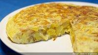 Tortilla de patata con queso. Receta