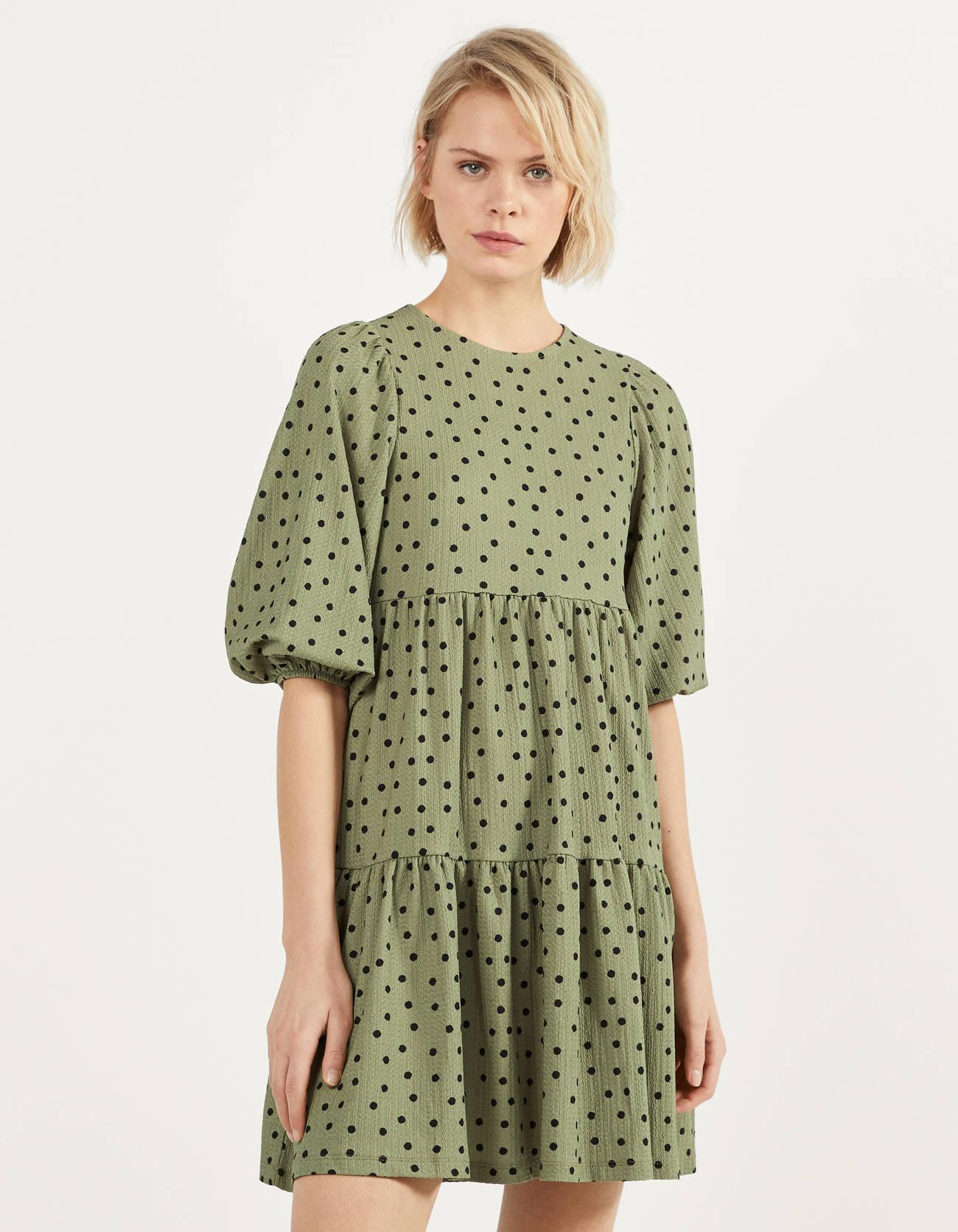 Vestido verde lunares