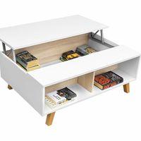 En Amazon tenemos esta mesa de centro elevable con almacenaje extra desde 68 euros y envío gratis