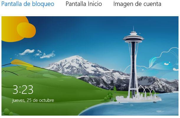 Configuración de windows 8