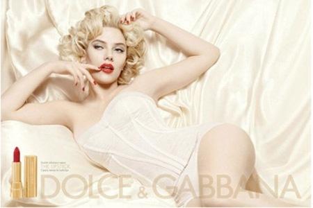 Scarlett Johansson para Dolce & Gabanna cosmetics