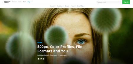 500px se renueva con soporte para mayor número de perfiles de color y nuevos formatos de imagen